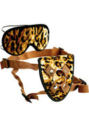 Furplay Harness And Mask (2 Piece Set) - Brown Tiger