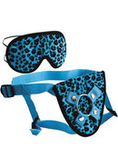 Furplay Harness And Mask (2 Piece Set) - Blue Leopard