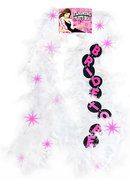 Flashing Party Feather Boa Bride To Be - White