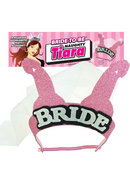 Bride To Be Naughty Tiara - Pink/silver