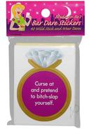 Bride-to-be`s Bar Dare Stickers